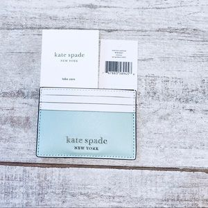 Kate Spade LIGHT GREEN small slim card holder